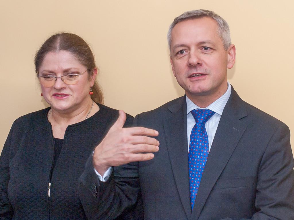 Posłowie Krystyna Pawłowicz orazMarek Zagórski